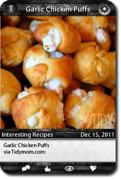 Garlic Chicken Puffs      ... i just made this for a xmas party. mmmmm
