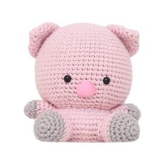 Peggy the Pig Amigurumi Pattern by fatfaceandme on Etsy