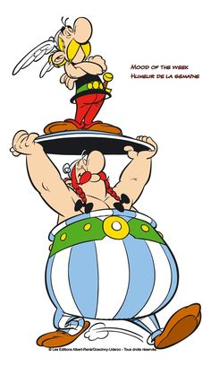 Asterix e Obelix - Uderzo e Goscinny . Snoopy Comics, Comics Und Cartoons, Calvin And Hobbes Comics, Bd Comics, Archie Comics, Batman Comics, Funny Comics, Comic Strip Love, Funny Comic Strips