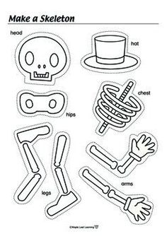 Free! Halloween Skeleton Activity-fun reinforcer and could be a dice activity too to choose favorite songs or activities: