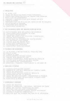 Ideas de listas para tu bullet journal