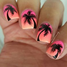 """10.5k Likes, 28 Comments - Gianna (@nailstorming) on Instagram: """" - Products used: Base gradient: """"Maliboob Job"""" """"International Hot Girl"""" and """"Pony"""" @flossgloss…"""""""