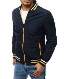 Tmavo-modrá pánska prechodná bunda Bomber Jacket, Jackets, Fashion, Down Jackets, Moda, Fashion Styles, Fashion Illustrations, Bomber Jackets, Jacket