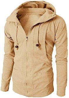 5cbc51318e4b  SOMTHRON Men s Active Hooded Drawstring Sweatshirt Coat Fleece Softshell  Zip Up Sports Hoodies Jersey Jacket(DG-XL) at Amazon Men s Clothing store    men ...