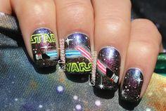 CoewlessStar Wars nails. Creative. nail design. Galaxy nails. Polish. Polishes.