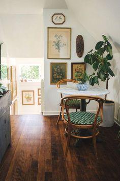 bistro-inspired, vintage dining nook