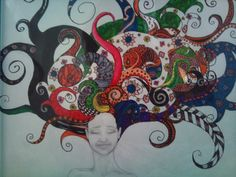 Ecclectic- pencil and ink Mixed Media, Pencil, Ink, Drawings, Painting, Sketches, Paintings, Sketch, India Ink