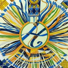 Hermes scarf. Been looking for a blue or orange one. This one would work for both!