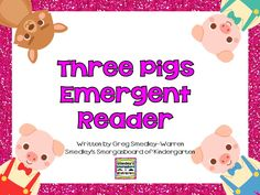 Three Little Pigs Emergent Reader (free)