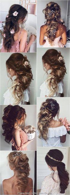 Ulyana Aster Long Wedding Hairstyles Inspiration - www.ulyanaaster.com   Deer Pearl Flowers #weddinghairstyles