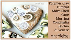 Polymer Clay Tutorial   Shiva Shell Cane   Murrina Conchiglia Occhio di Venere