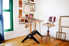 space for a drafting desk. use flat when needed. prop up to save space.