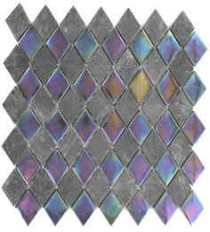 GEOLOGICAL DIAMOND BLACK SLATE & RAINBOW BLACK GLASS TILES 2X3 glass tile - shop glass tiles at glasstilestore.com
