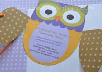 Free printable owl invitation templates. Website has free printables for all kinds of invitations and cards.