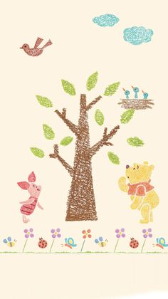Winne The Pooh, Winnie The Pooh Friends, Disney Wallpaper, Iphone Wallpaper, Winnie The Pooh Background, Winnie The Pooh Bedding, Diy And Crafts, Arts And Crafts, Pooh Bear