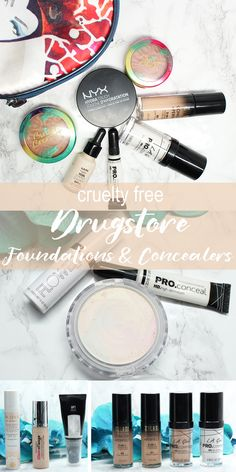 I'm sharing my picks for some of the best budget-friendly Cruelty Free Drugstore Foundations and Concealers. Ain't no shame in the budget-friendly cruelty free beauty game! Seriously though, there are so many drugstore options available today that were not available when I was in high school. I did find a few vegan options too.