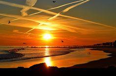 Sunset at Long Beach, NY  by KoolPix, via Flickr