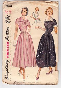 Vintage Sewing Pattern Ladies 1940's Dress Simplicity by Mrsdepew