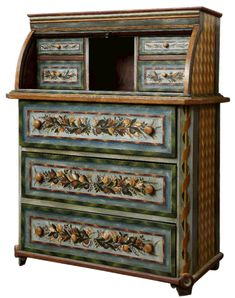 Desktop-dresser with cylinders – Alsatian from the last century