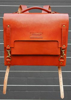 """The Derby. what a gorgeous bag :: """" Made with English Bridle and Brass Hardware, The Derby is 100% Handmade"""""""