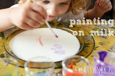 Painting on milk...