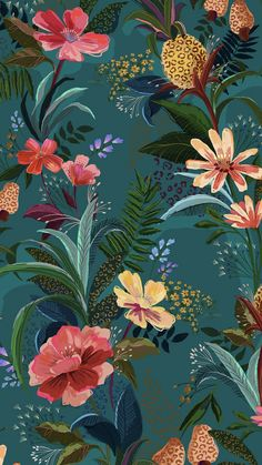 Flor Iphone Wallpaper, Phone Screen Wallpaper, Cellphone Wallpaper, I Wallpaper, Flower Wallpaper, Pattern Wallpaper, Wallpaper Backgrounds, Illustration Botanique, Illustration Art