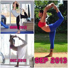 Natarajasana progression - inspiring yoga!