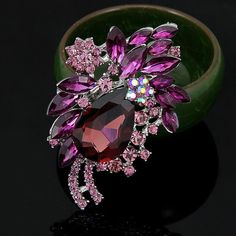 High-end Multi-color Diamond Brooch                                                                                                                                                                                 More