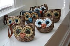 pretty darn cute - I can do the owl face - just have to find a pattern for little purse