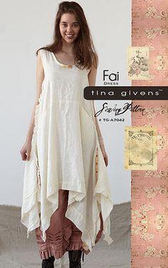 """:: Crafty :: Sew :: Clothing :: Tina Givens Printed patterns ~ """"Fai"""""""