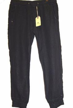 Jetlag Black Men's Linen Stylish Stretch Pants Sz 2XL  #Jetlag #CasualPants