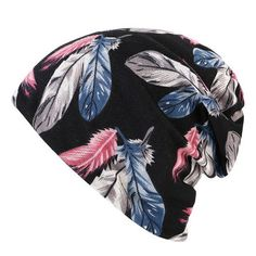 95ab434c0ce Women Cotton Print Dual-use Beanie Both Cap And Scarf Use Beanie Causal  Windproof Hats