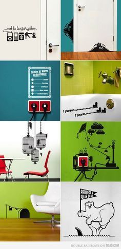 Creative Wall Graphics Stickers