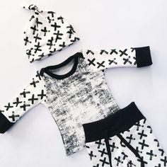 94ff9078360f Baby Boy Cross or Stripes 3 pc set (2 styles