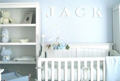 Dipped in Water: Monochromatic Rooms (Transform your spare bedroom into something magical for your new baby. A light blue can create a calming and comfortable nursery for a little one)  @Homedit.com