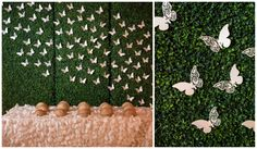 Unique paper butterfly escort card / place card display | Found on Modern Jewish Wedding Blog | Classic Orthodox Modern Jewish Wedding in Quebec |