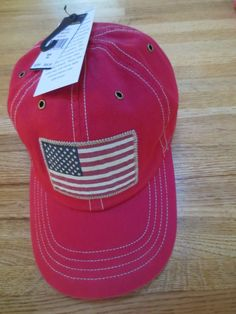 POLO RALPH LAUREN BASEBALL CAP  MEN'S  USA FLAG   LOGO PATCH  HAT  RED  NEW #PoloRalphLauren #BaseballCap