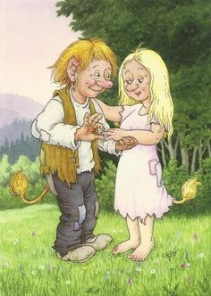 View album on Yandex. Fairies Mythology, Fairy Sketch, Funny Troll, Elves And Fairies, Scandinavian Art, Book Images, Watercolor Illustration, Pretty Pictures, Gnomes