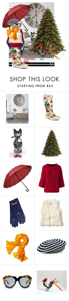 """""""rainy Christmas"""" by sandalfelt ❤ liked on Polyvore featuring Chooka, GE, Lands' End, Moschino, Hollister Co., Reed Krakoff, Sonia Rykiel and Karen Walker"""