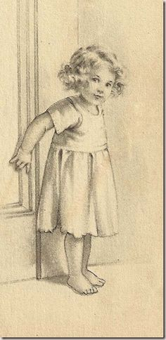 Vintage Girl from 1924 Baby Book ~ PJH Designs Free Graphic
