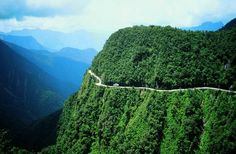 Los Yungas, Bolivia  Scary road, exhilarating ride.