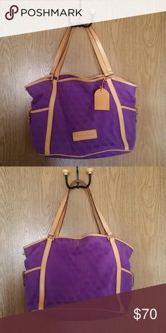 Dooney and Bourke purse Purple, 16x12x6, some wear Also includes a small matching pouch Dooney & Bourke Bags Shoulder Bags
