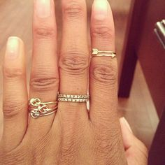 Birdy stack rings back in stock!! #knots #arrows #gold #rose #silver #nla #need #obsessed