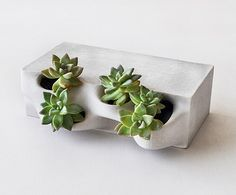 Planter brick: While others busy themselves trying to prove that its possible to 3-D print a house Emerging Objects are occupied with trying to design one people would actually want to live in. Discover uncommon designs straight from your inbox - There's a link in the profile description #greenery by Emerging Objects