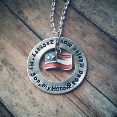 Military Necklace by tagsandthingsbyk on Etsy