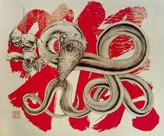 eel Jamie Hewlett Art, Gorillaz Art, Monkey Art, Journey To The West, West Art, Symbols, Prints, Icons, Printed