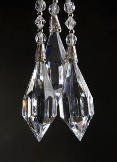 """Crystal Drop Hangers (3 pieces/ pkg ) 10.5"""" $9 pkg / 3 pkgs for $8 pkg"""