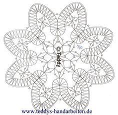 Lace doily / 7 More - Pin Coffee Bobbin Lace Patterns, Sewing Patterns, Crochet Patterns, Romanian Lace, Bobbin Lacemaking, Hairpin Lace, Lace Heart, Point Lace, Lace Jewelry