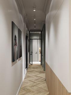 Un appartement classique chic par Cartelle Design Small Apartment Design, Apartment Interior, Small Apartments, Apartment Cleaning, Design Entrée, House Design, Home Interior Design, Interior Architecture, Interior Ideas