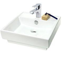Caracalla Fausta Ceramic Bathroom Sink and Faucet Combo FAU509